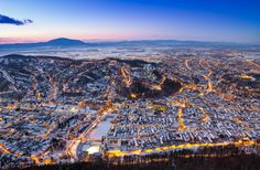Brasov Seen from Tampa Hill Carpathian Mountains, Old Town, Romania, City Photo, Medieval, Scenery, Old Things, History, Places