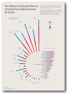 Visualizing the Gender Development Index (UNDP) on Behance
