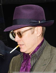 James Spader: Sexy in Purple...still not a fan of the smoking but I do love the purple!
