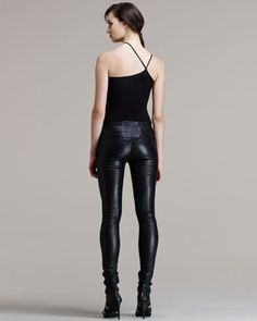 Helmut Lang Stretch Leather Skinny Pants