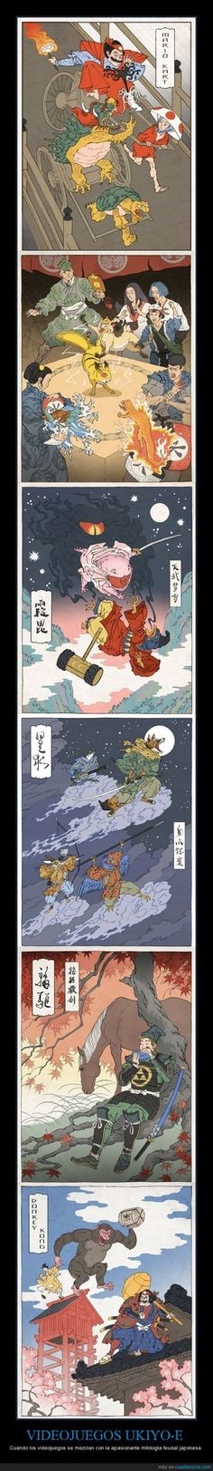 UKIYO-E VIDEOGAMES - When videogames mix with the fascinating Japanese feudal mythology