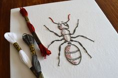 Anatomical Ant by KFNeedleworkDesign on Etsy