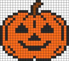 Jack o lantern -- perler beads Melty Bead Patterns, Hama Beads Patterns, Beading Patterns, Kandi Patterns, Hama Beads Halloween, Halloween Crochet, Perler Bead Art, Perler Beads, Beaded Cross Stitch