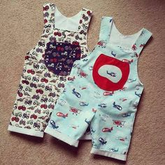 LITTLE BIRDS Baby Romper pattern Pdf Overall Dungaree by PUPERITA