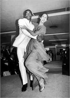 Pat Cleveland cutting a rug with the inimitable Sterling St. Jacques.