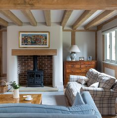 Terrific Pics curved Brick Fireplace Concepts Farmhouse – Border Oak – oak framed houses, oak framed garages and structures. Wood Fireplace Mantel, Inglenook Fireplace, Farmhouse Fireplace, Fireplace Surrounds, Fireplace Ideas, Rustic Farmhouse, Log Burner Fireplace, Cottage Fireplace, Fireplaces