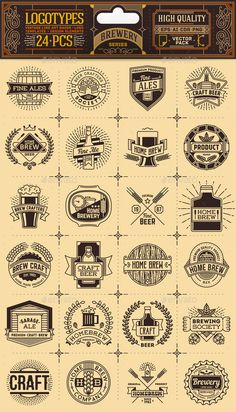 Brewery Thin Line Badges and Logos. Vector Pack EPS, AI Illustrator. Download here: https://graphicriver.net/item/brewery-thin-line-badges-and-logos-vector-pack/13981901?ref=ksioks