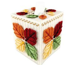 Great fall item to keep a tissue handy for those fall sniffles. Fits a regular size boutique style tissue box. A new box of tissues will be included! Made of 4-ply acrylic yarn over plastic canvas. Proudly hand stitched in the USA. PLEASE FAVOR MY SHOP SO YOU DONT MISS OUT ON ANY