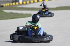 MSR Houston 3/4 mile kart track. The karts deliver speeds from 20 to 90 miles per hour. Just north of Lake Jackson Texas.