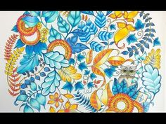 Colouring BookTutorial... How to Colour Amazing Leaves. - YouTube