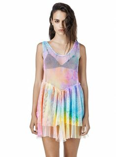 M tie dye bait dress by UNIF