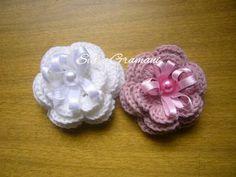 Flores croche - tutorial