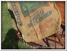 Gail's Decorative Touch: Advertising on a Burlap Bag Diy Burlap Bags, Do You Remember, Diy Projects To Try, Hello Everyone, Paper Shopping Bag, Advertising, Touch, Decor, Decoration