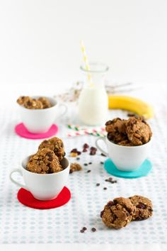 Frühstückskekse mit Banane, Kardamom, Cranberries & Walnüssen I Breakfast Cookies with Banana, Cardamom, Cranberries & Walnuts