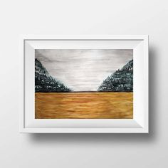 Impressionist Landscape Watercolour Abstract Landscape Foggy