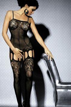 "#Netzstrumpfhose mit #Hüftgürtel in #Strapsoptik für den Abend, für Damen ab Größe 36 bis 40/42, das Material ist sehr dehnbar, sehr elastisch, perfekte Anpassung, Top Qualität ! Handwäsche ! Material: 85% Polyamid, 15% Elasthan. Sexy #bodystocking in soft mesh with the original design effect #bustier and garters, floral lace bust and on the thighs, this can be worn under your clothes for a ""sexy secret"" only known to you or for max ""wow factor"" in the bedroom."