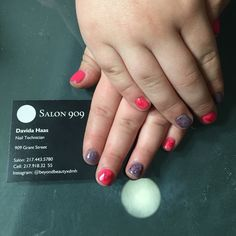 Little girls valentines nails