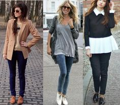oxford-com-calça Look Oxford, Oxfords, Casual Chique, Oxford Shoes Outfit, Fall Winter Outfits, My Wardrobe, Casual Looks, Dress Up, Silver Flats