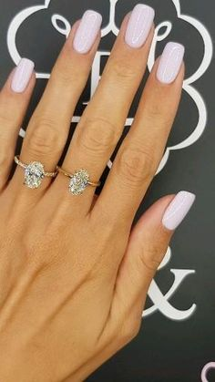 Simple Engagement Rings Oval, Luxury Engagement Rings, Beautiful Engagement Rings, Engagement Ring Cuts, Elegant Nails, Stylish Nails, Simple Wedding Nails, Engagement Nails, Nagellack Design