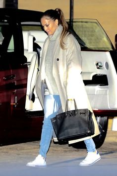 Jennifer Lopez Just Wore the Worlds Most Beautiful Sneakers With Skinny Jeans