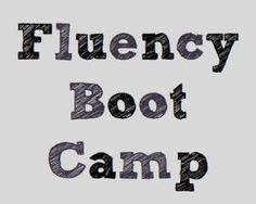 "Don't let the title scare you; this ""boot camp"" (hopefully) will not result in tears of frustration nor will a drill sergeant be screaming at you! It will still be tough, but it will be fun! I think that this program is a great way to help students build confidence in their reading and writing fluency and an even greater way for teachers to assess."