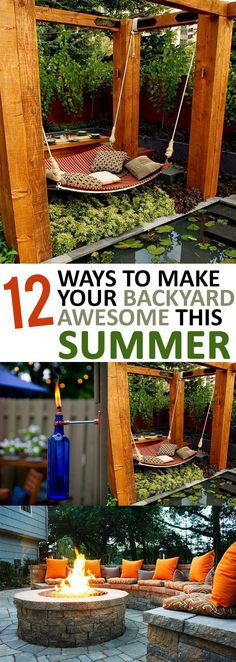 Ways to update your backyard for summertime Love this giant hammock, could do that under the trees out back. Grow bug repelling plants around it and let the vine ones grow up the posts