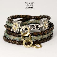 Forest Lake (brass) - bransoleta  / Anioł / Biżuteria / Bransolety