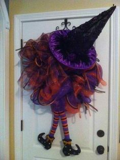 "Halloween wreath ....  $90  ""LIKE"" us on our Facebook page @ All About You Designs"