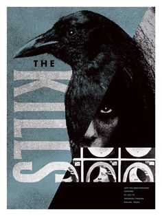 The Kills concert poster by Aesthetic Apparatus