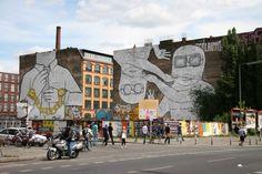 Street Art em Berlim  Street Art em Kreuzberg  Endereço: Kreuzberg 36, Berlim. Estação de Metrô: U1 Kottbusser Tor