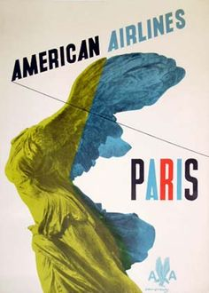 AMERICAN AIRLINES / PARIS ca. 1948 by KAUFFER, EDWARD McKNIGHT