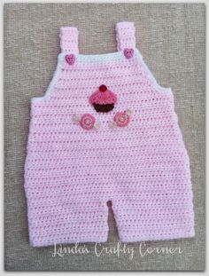 .Linda's Crafty Corner: Baby Dungaree Pattern Tutorial ༺✿ƬⱤღ  http://www.pinterest.com/teretegui/✿༻