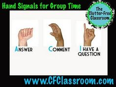 #ClassroomManagement Great hand-signals for whole-group instruction.