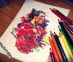 Cristiano Ronaldo drawing by The Illestrator