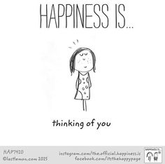 Happiness is Cute Happy Quotes, Cute Quotes For Life, Happy Love, Are You Happy, Best Quotes, Love Quotes, Awesome Quotes, Then Sings My Soul, Reasons To Be Happy