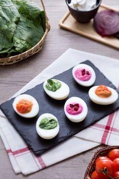 Uova primavera: gustose e super colorate. Renderanno la tua tavola di Pasqua ancora più allegra! [Spring colored eggs]
