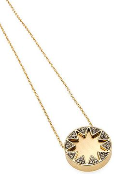 The Earth Metal Sunburst Station Necklace