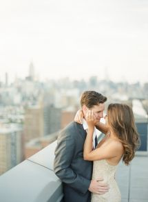 Stunning NYC e-sesh: http://www.stylemepretty.com/little-black-book-blog/2015/08/19/elegant-nyc-high-line-engagement-session/ | Photography: Alicia Swedenborg - http://www.aliciaswedenborg.com/