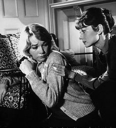 """Martha Dobie (Shirley MacLaine) to Karen Wright (Audrey Hepburn): """"It's funny. It's all mixed up. There's something in you, and you don't know anything about it because you don't know it's there. And then suddenly, one night a little girl gets bored and tells a lie, and there, for the first time, you see it. Then you say to yourself, did she see it? Did she sense it?"""" -- from The Children's Hour (1961) directed by William Wyler"""
