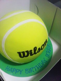 The November Bakery - Tennis Cake Tennis Cupcakes, Tennis Cake, Tennis Party, Tennis Gifts, Fancy Cakes, Cute Cakes, Ball Birthday, Birthday Cake, Sports Themed Cakes