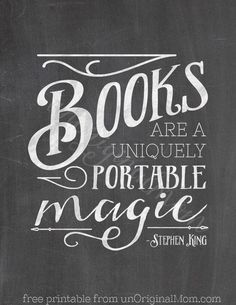 The best thing about books is that they are able to go were you go. So you never need to worry about being to far from an adventure.