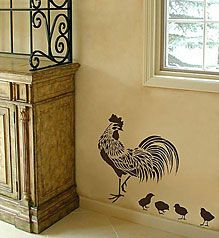 Rooster Stencil - Easy reusable stencils for DIY decor Life Is What Happens Between Coffee And Wine Kitchen Decor Rustic Shabby - Home Decor Rooster Kitchen Decor, Rooster Decor, Chicken Kitchen Decor, Rooster Stencil, Do It Yourself Decoration, Diy Décoration, Diy Crafts, Country Style Homes, Easy Home Decor