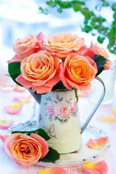 Orange floral table decoration