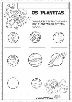 Lipitipi- Atividades e Projetos Fundamental I: Atividades Sistema Solar Escrita Espontânea e Produção Textual