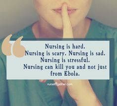 Nursing is hard. Nursing is scary. Nursing is sad. Nursing is stressful. Nursing can kill you and not just from Ebola. Confessions of a The 5 Mistakes I Have Made Icu Nursing, Nursing Tips, Nursing Notes, Nursing Major, School Nursing, Funny Nursing, Nurse Love, Rn Nurse, Nurse Humor