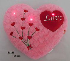 Valentýnské srdíčko s blikajícími světýlky 25 cm - Bambule Království hraček