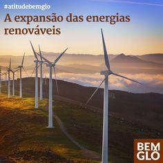 A tendência para os próximos anos é a expansão cada vez mais acelerada das energias renováveis. Vem saber mais sobre isso no post cheio de atitude de hoje. Conheça o site  e blog da Gloria Pires! <3