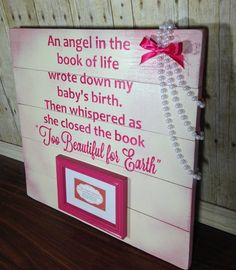 Death of child memorial sign/ book of life sign/ infant loss/ memorial rustic sign/ baby death sign/ stillborn memorial sign