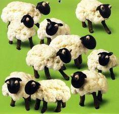 ovejitas de coliflor