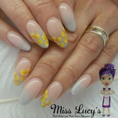 #acrylicenhancements #acrylicnails #nailextensions #nailenhancements #acrylicnotpolish #nsinailsuk #ombrenails #greynails #onestrokenailart #yellowflowers @nailteameducators